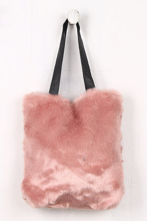 Alessandra Faux Fur Tote Bag