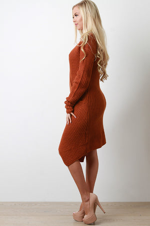 Jasmine Envelope Hem Knit Sweater Dress