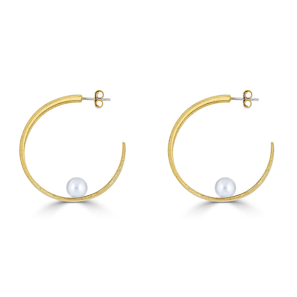 The C Hoop- 18K Yellow Gold Vermeil