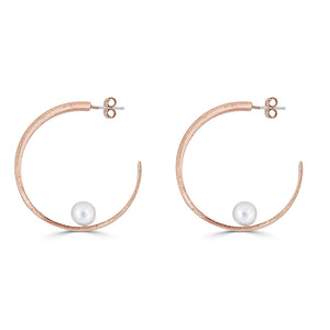 The C Hoop- 18K Rose Gold Vermeil