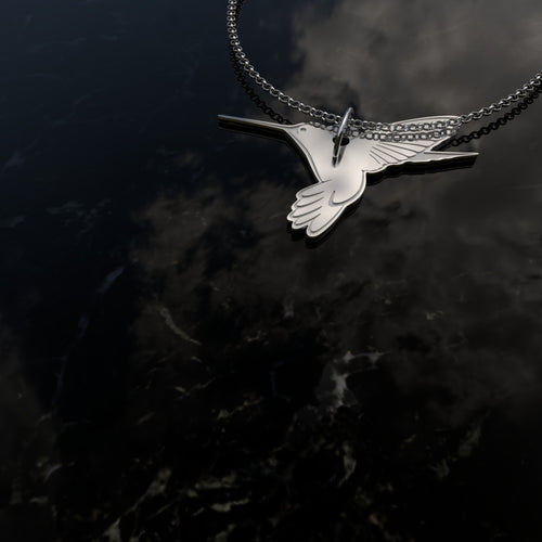 Humming Bird Sterling Silver Pendant