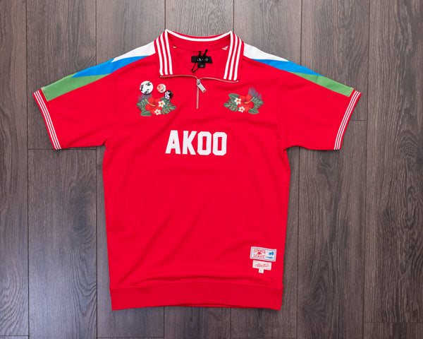 Akoo Sub Rosa Ss Racing Red Polo