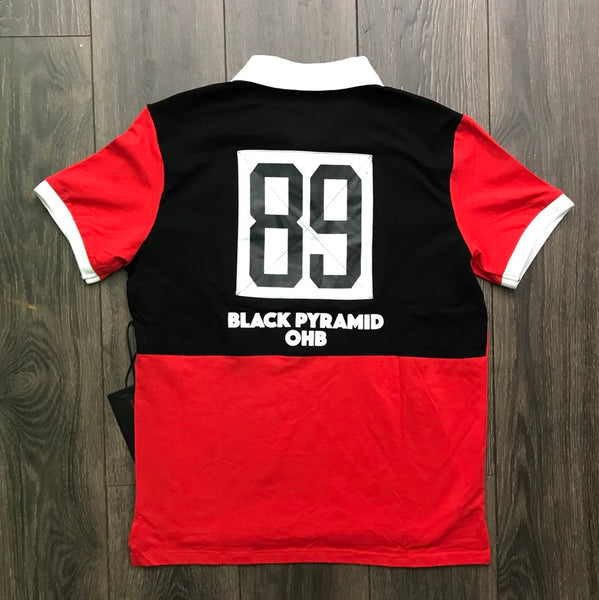Black Pyramid Red Polo