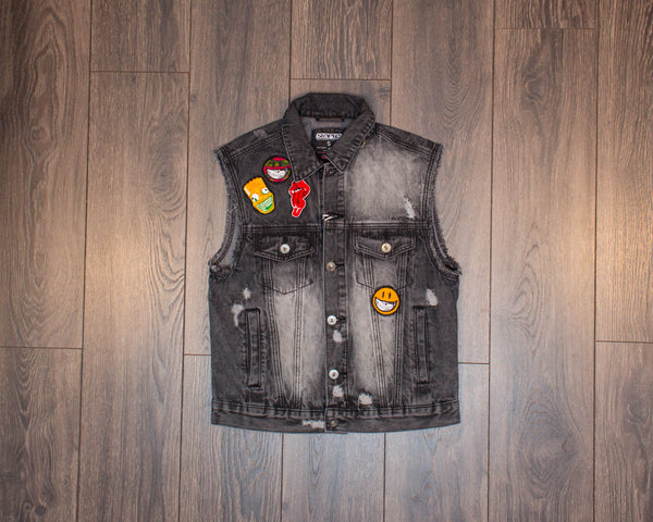 Staple X Ron English Denim Vest