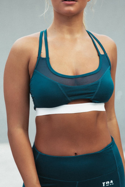 Cutout Sports Bra - Teal