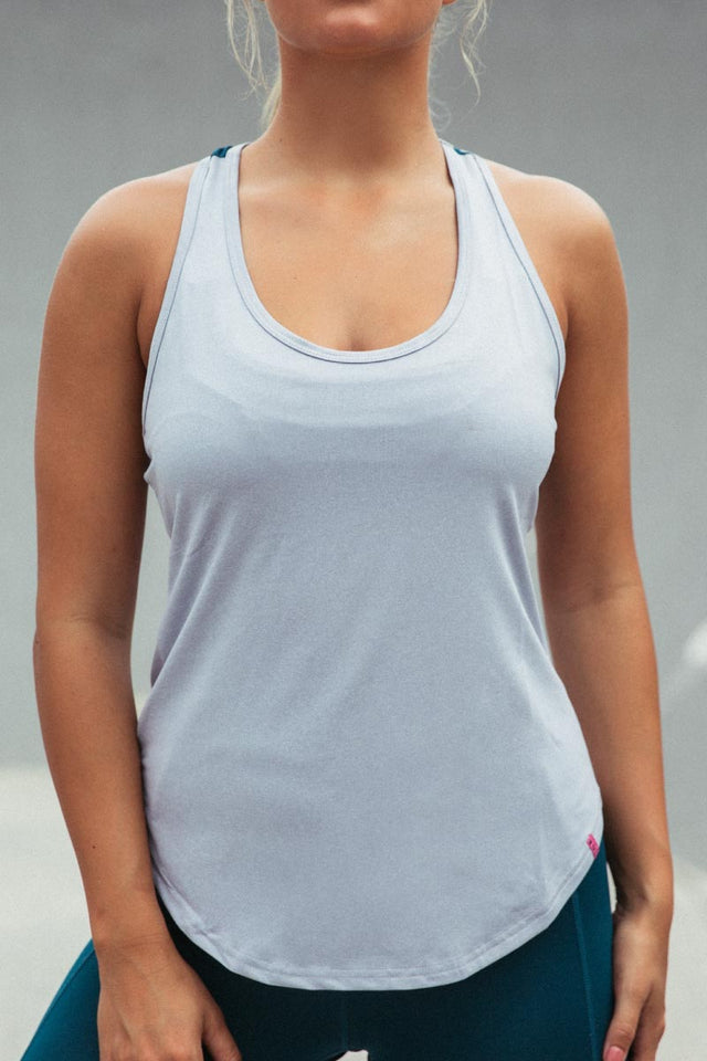 Racer Tank - Cool Grey