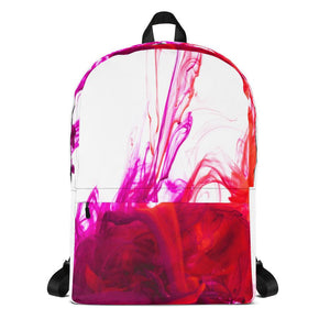 Purple Red Ink Pool Backpack