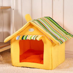 Removable Cover & Mat Pets House