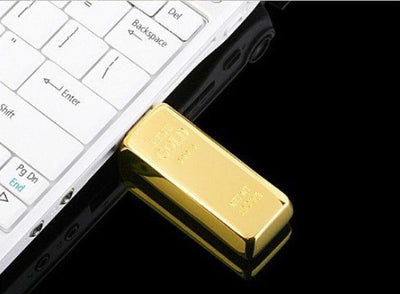 Bullion Gold Bar USB 2.0 Flash Drive 4GB 8GB 16GB 32GB
