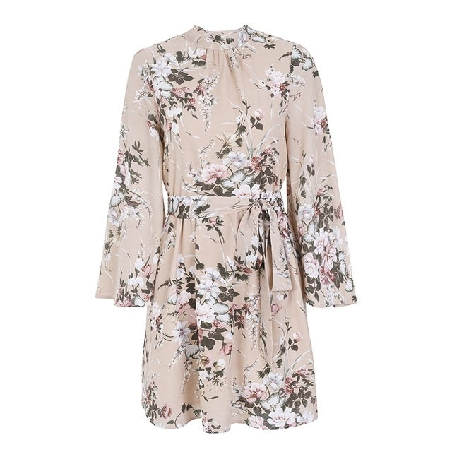 Flare Sleeve Floral Print Dress - Available In 3 Colours