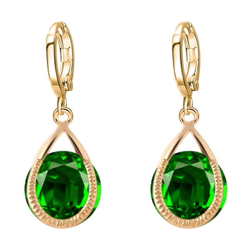 Colour Crystal Water Drop Earrings