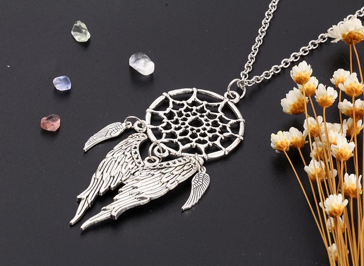 Silver Dream Catcher Necklaces - 4 Variations