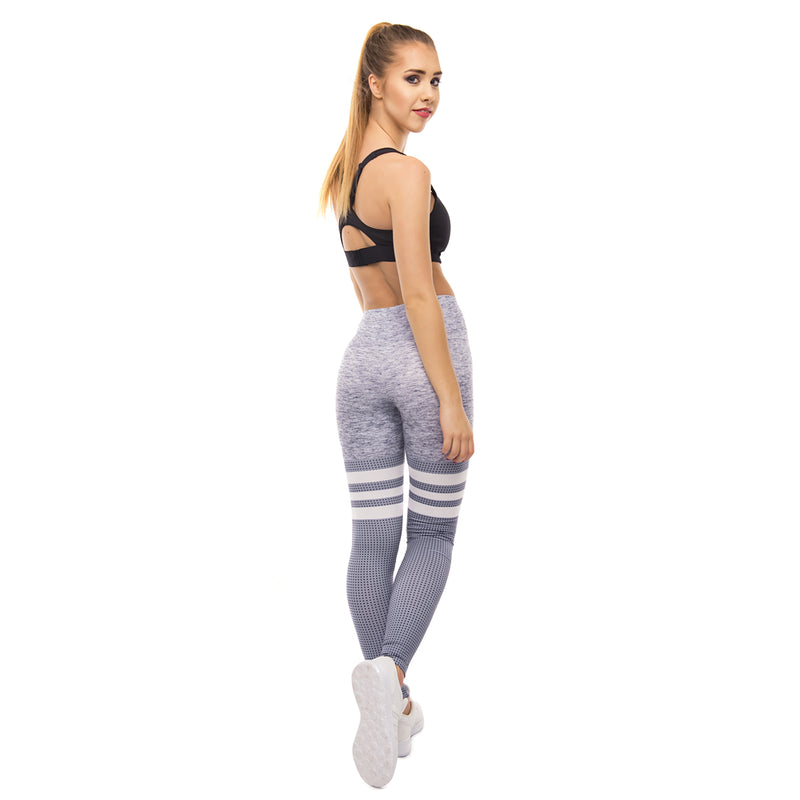 Light Grey & White Fitness Leggings