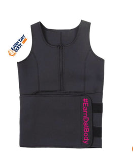 Petite Black and Pink Sweat Vest