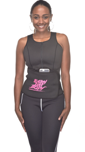 OUT OF STOCK UNTIL FEBRUARY 25 Black and Pink Sweat Vest