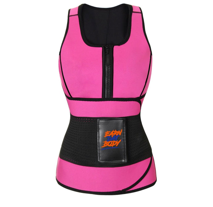 "Petite Pink ""Waist Watcherz"" Sweat Vest"