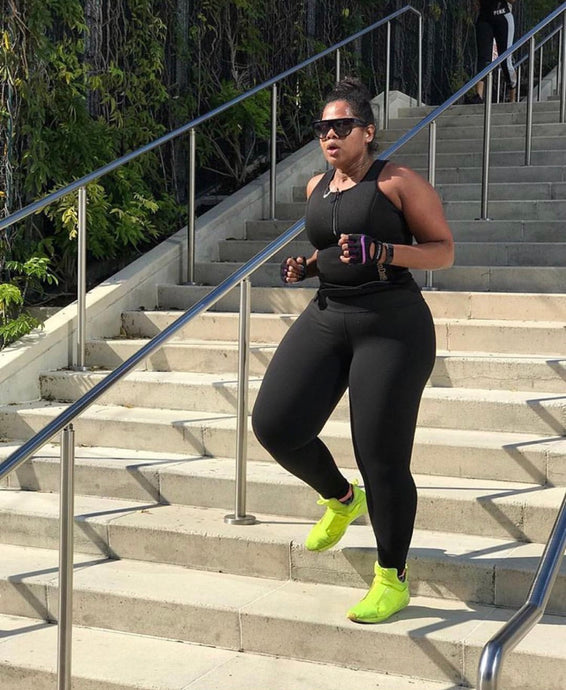 Plus Size Black and Pink Sweat Vest