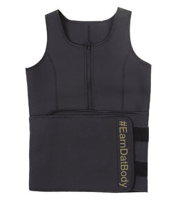 Petite Black and Gold Sweat Vest