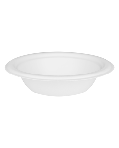 Round Sugarcane Bagasse Bowls 12 oz White Biodegradable, Compostable Counts 50, 500, 1000