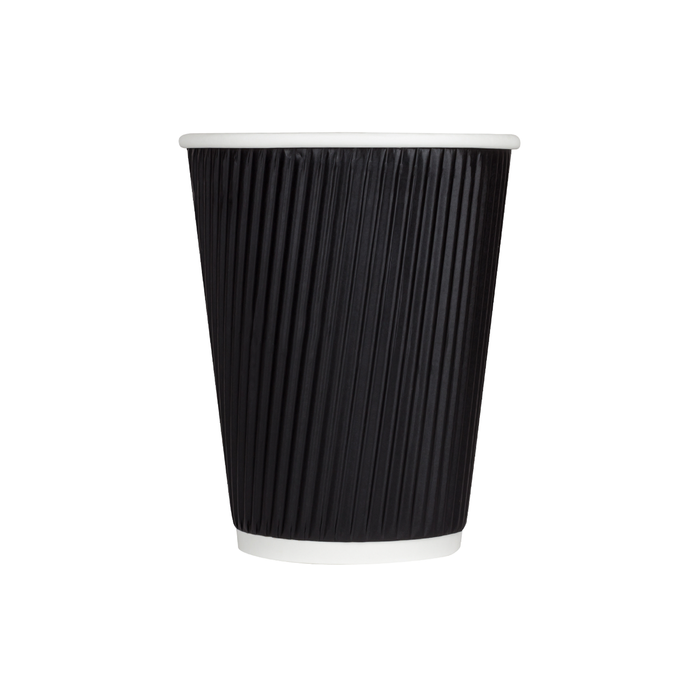 Hot Drink Cups Black Sleeveless Compostable Recyclable Disposable 10 oz, 12 oz 500/case