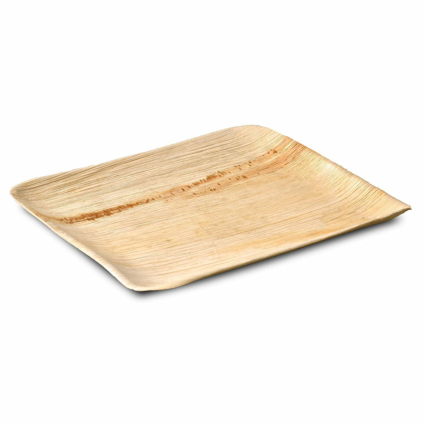 Palm Leaf Rectangle Platter Tray 12 inch x 10 inch- 25/package