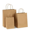 Paper Bags with Twisted Handles, Kraft, 100% Recyclable Paper, 250 Case