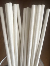 Paper Straws Wrapped White 7.75 inch X .25 inch OD 1000 ct