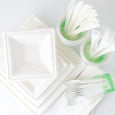 Eco-Party Pack 25 Square or Round Plate Set