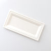 "Rectangular Sugarcane Plates 6"" x 10"" EcoFriendly Compostable and Recyclable"