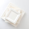 "Square Sugarcane Bagasse Plates 6"", 8"", 10"" Compostable Recyclable"