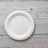 Round Sugarcane Bagasse Plates 10 inch Single Section EcoFriendly Compostable
