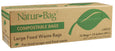 "Natur-Bag Biodegradable Compostable Bags 13 gallon Waste Liner Bag 0.8 mil, 23.5""W x 29""H, 12/box, 144/case"