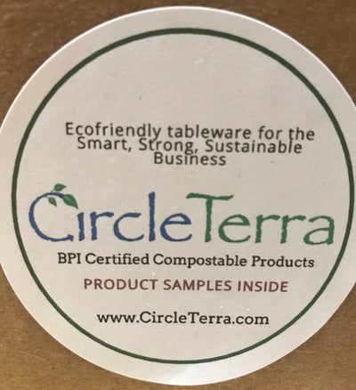 Sample Box of CircleTerra EcoFriendly Compostable Tableware