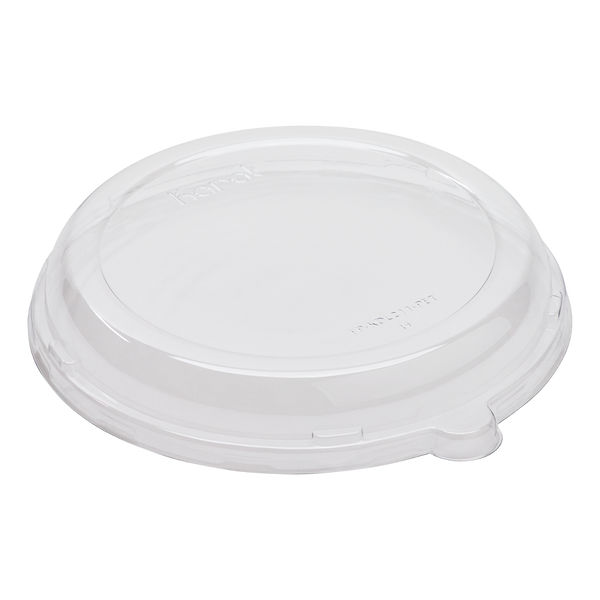 Clear Dome Lids for Round Sugarcane Bagasse Biodegradable White Bowls 24 oz, 500/case