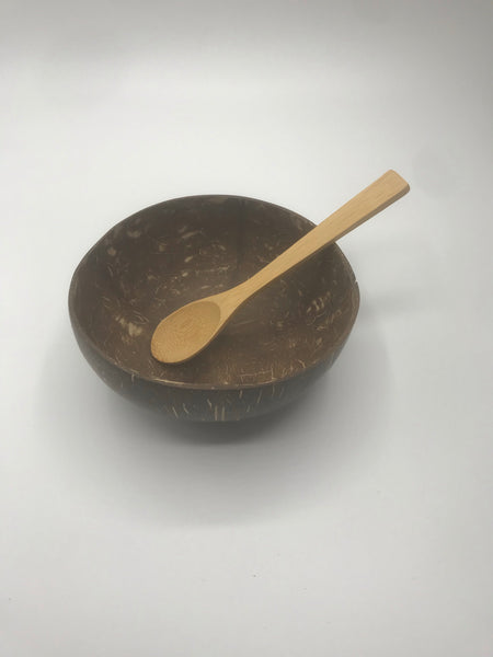 Coconut Bowl and Spoon Set - Reusable