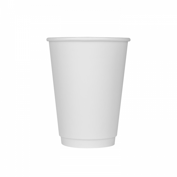 Hot Drink Cups White Insulated Compostable Recyclable Disposable 12 oz 500/case