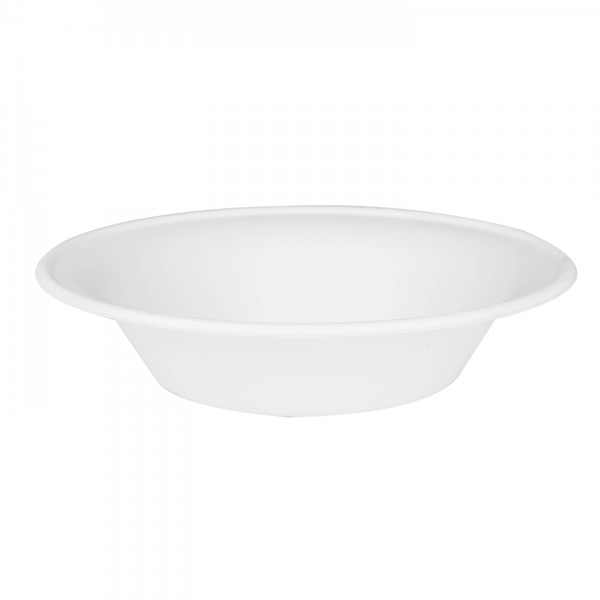 Round Sugarcane Bagasse Bowls 24 oz White Biodegradable, Compostable, 500/case