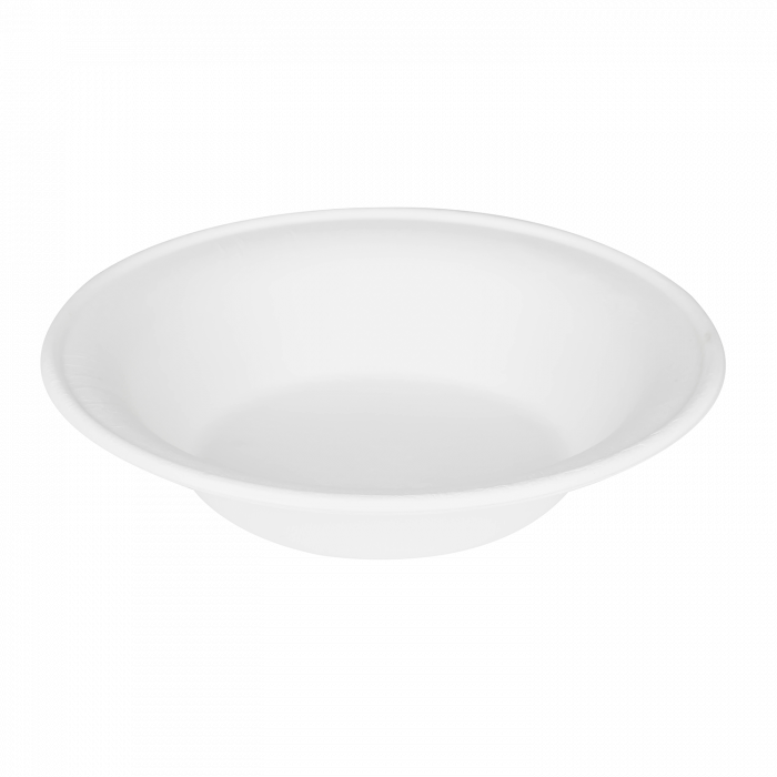 Round Sugarcane Bagasse Bowls 24 oz White Biodegradable, Compostable, Counts 50, 500