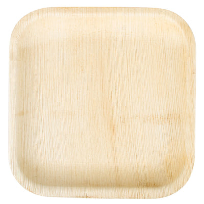 "Square Palm Leaf Plates 6"", 8"", 10"" in Counts 25, 50, 100"
