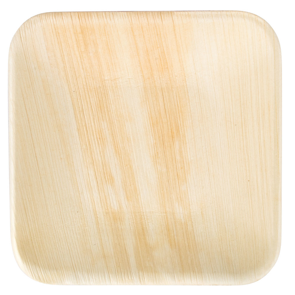 Square Palm Leaf Plates 6 inch - 10/package, 25/package, 100/case
