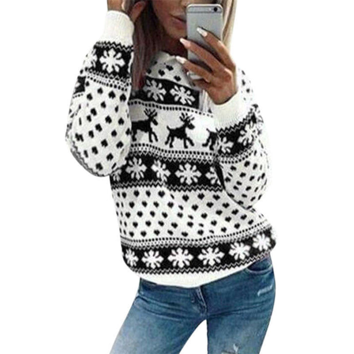 Black & White Christmas Snowflakes Jumper