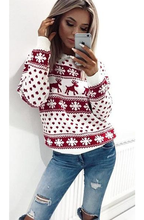 HADLEY WHITE & RED SNOWFLAKES CHRISTMAS JUMPER