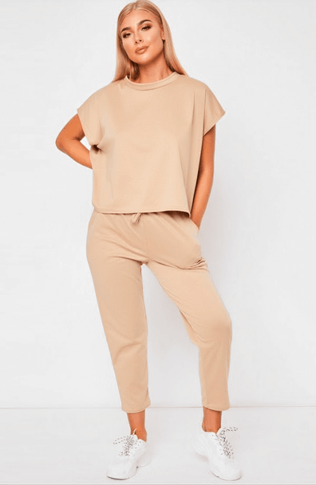 MARIAH  CAMEL BOXIE LOUNGEWEAR SET