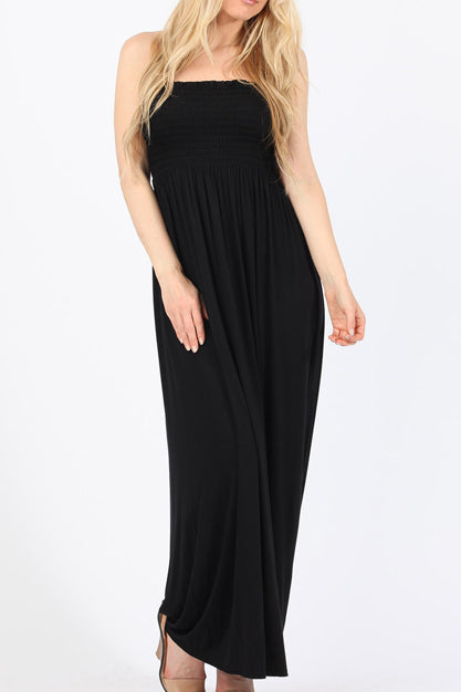 Jayde Black Bandeau Maxi Dress