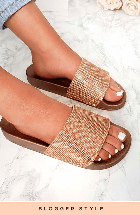 LIMITED EDITION CHAMPAGNE DIAMANTÉ SLIDERS
