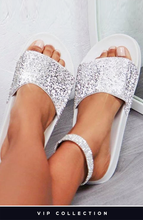 LIMITED EDITION SORELL SILVER DIAMANTÉ SLIDERS