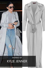 MISTY SOFT SILVER MAXI DUSTER JACKET