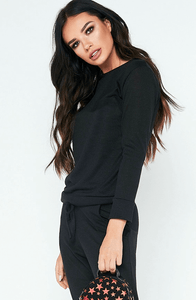 BAILEY BLACK SWEATSHIRT & JOGGERS CO-ORD SET