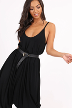 RACHEL BLACK DRAPED HAREM JUMPSUIT