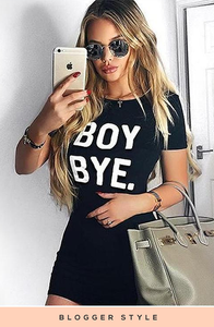 LOTTIE BLACK BOY BYE OVERSIZED T-SHIRT DRESS